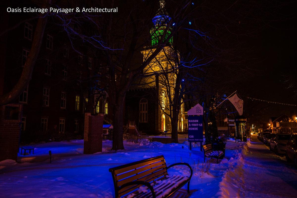 eclairage-exterieur-couleur-paysager-montreal
