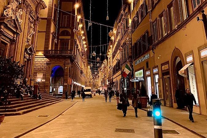 centro,FLORENCE, ITALIE-eclairage
