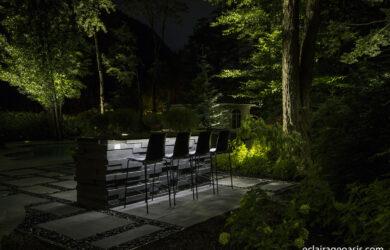 éclairage table extérieur architectural