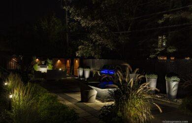 outdoor living éclairage exterieur