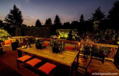outdoor living éclairage oasis