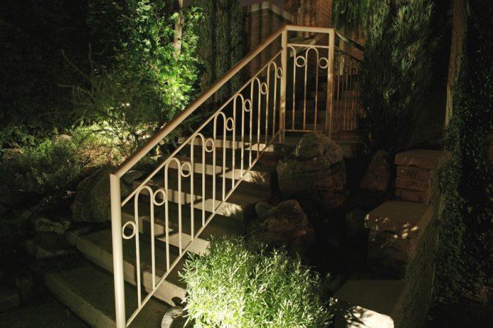 éclairage escalier avant